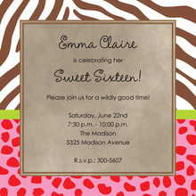 Wild Animals Square Invitations