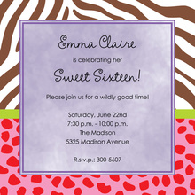 Crisp Wild Mixed Invitations
