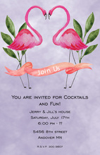Lovely Flamingo Invitations