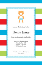 Simple Baby Bear Invitations