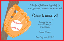 Baseball Time Invitation