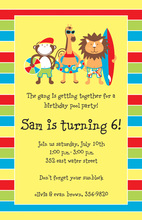Jungle Friends Swim Invitations