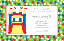 Decorated Bounce Castle Invitations