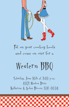 Cowboy Cowgirl Pair Invitations