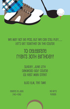 Mr. Golf His Birthday Invitations