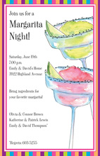 Fruity Margaritas Multi Colored Party Invitation