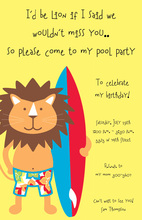 Surfin' Lion Invitation