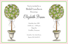 Classic Ornament Topiaries Invitation