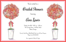 Rose Topiaries Invitations