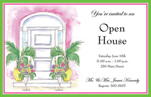 Artistic Tropical Door Invitation