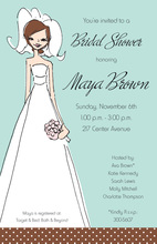 Cocoa Casual Bride Invitation