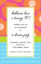 Amber Poppy Sunset Invitation