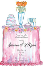 Fancy Frilly Table Invitation
