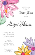 Spring Trendy Gerbers Invitation