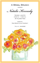 Bright Orange Roses Invitation