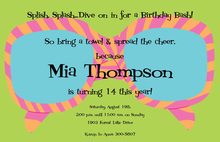 Girly Wild Sunglasses Summer Invitations