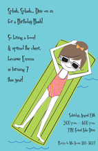 Floaty Girl Invitation