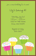 Lolly Cakes Invitation