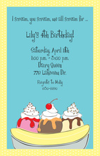 Banana Split Invitation