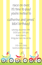 Fun Bike Parade Party Invitations
