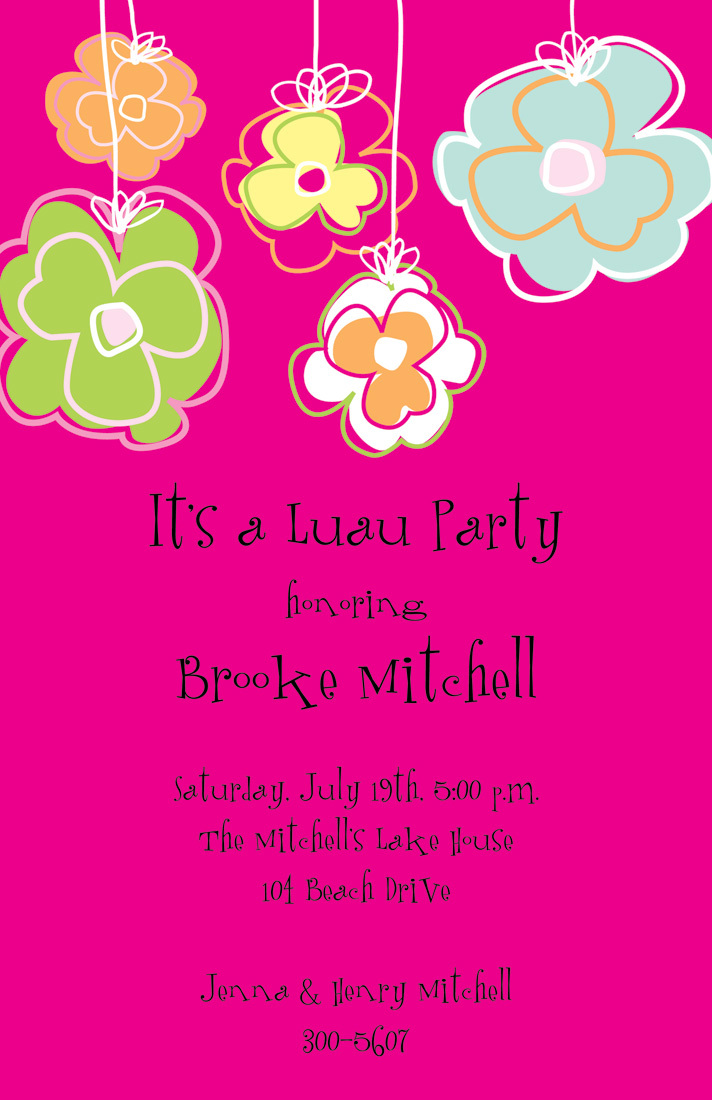 Tropical Bermuda Pink Invitations