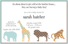 Thrilled Jungle Boy Birthday Invitations