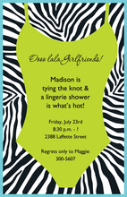 Lingerie Jungle Invitations