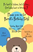 Peeking Bear Invitation
