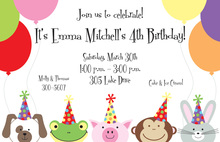 Peeking Friends Invitations