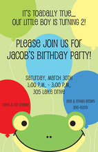 Cute Peeking Frog Invitations