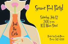 Stylish Chic Girl Party Invitation