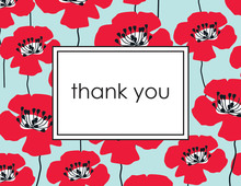 Poppy Red Thank You Cards