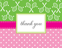 Tennis Mix Thank You Cards