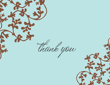 Blue Vines Thank You Cards