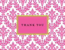 Frill Pink Thank You Cards