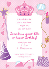 Tiaras Dress Up Divas Invitation