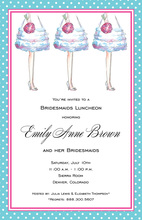 Bridesmaids Feet Invitation