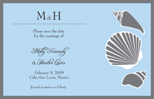 Silver Shells Beach Invitations