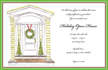 Pretty Holiday Entry Invitation