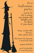 Silhoutte Witch Invitations