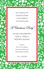 Formal Green Arbor Border Invitation
