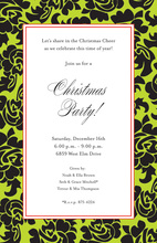 Holiday Rosa Design Invitations