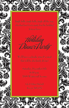 Great Decorated Mozart Coal Invitation