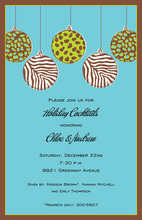 Wild Bulbs Blue Invitations