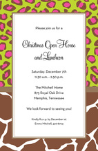 Lovely Wild Cocoa Border Invitation