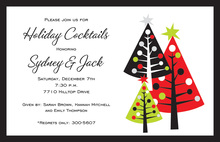 Simple Decorative Trees Invitation