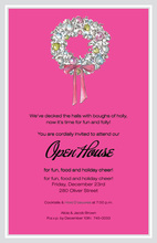 Wreath Glitz Invitation