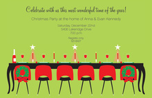 Festive Holiday Dinner Party Invitations