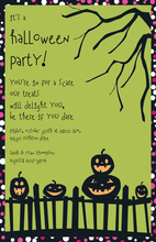 Spooky Fence Invitation