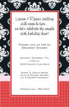 Vibrant Beautiful Prima Red Invitations